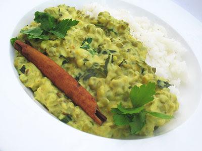 Mung Beans in a Golden Karhi Sauce
