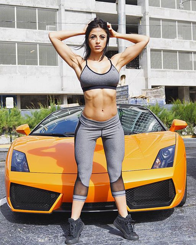 Fitness Model NATALIA BERNAL with car