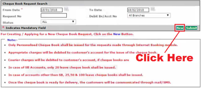 how to get cheque book from corporation bank