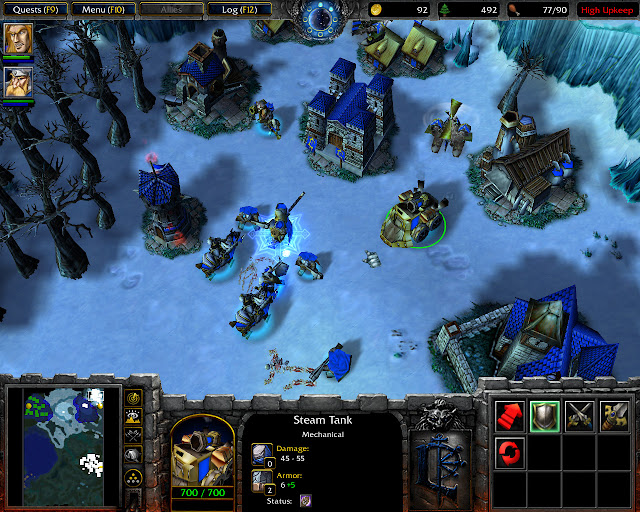 The Shores of Northrend Mission 9 | Steam Tank Screenshot | Warcraft 3: Reign of Chaos