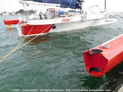 Le Multi70 avait perdu un safran suite à une collision avec un OFNI