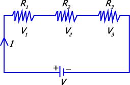 Gambar Rangkaian seri resistor