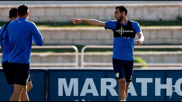 Málaga, entrenamiento pensando en el Atlético
