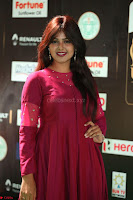 Monal Gajjar in Maroon Gown Stunning Cute Beauty at IIFA Utsavam Awards 2017 045.JPG