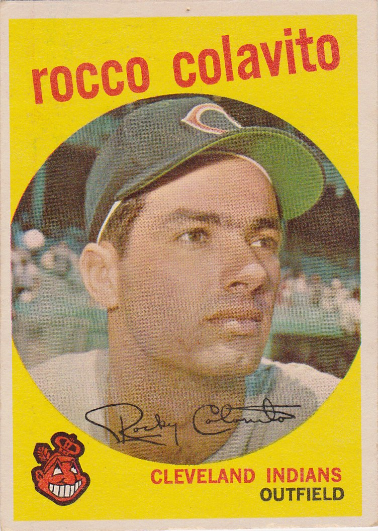 59 topps: one f/g card at a time: #420 Rocco Colavito