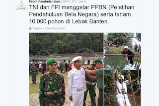 Selepas Gelar Pelatihan Bersama FPI, Dandim Lebak Dicopot Karena Di Anggap Salahi Aturan - Commando