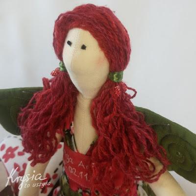Krysia to uszyła - anielica Inga mała portret i ftyzura