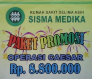 Paket promo Operasi Caesar di RS Delima Asih Sisma Medika Karawang