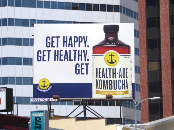 Get happy Health-Ade Kombucha billboard