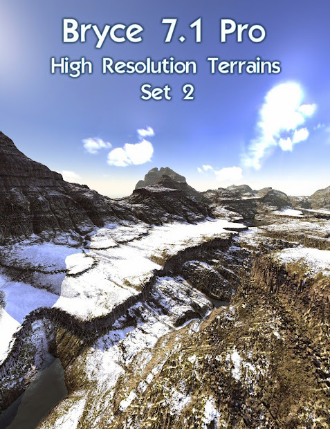 Daz Studio 3 Free 3d - Bryce 7.1 Pro High Resolution Terrains Set 2