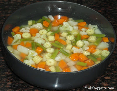 boiled veggies for kurma
