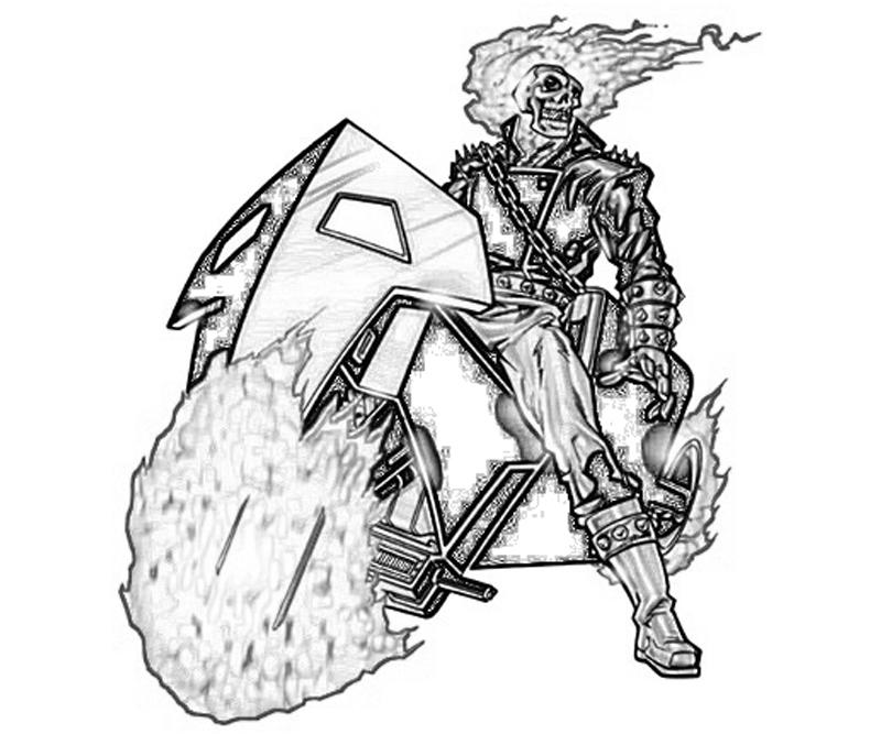 ghost rider free coloring pages - photo#31