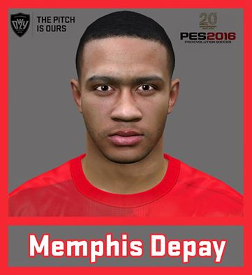 PES 2016 / PES 2017 Memphis Depay (Manchester United F.C) Face by Ozy_96 PESMOD