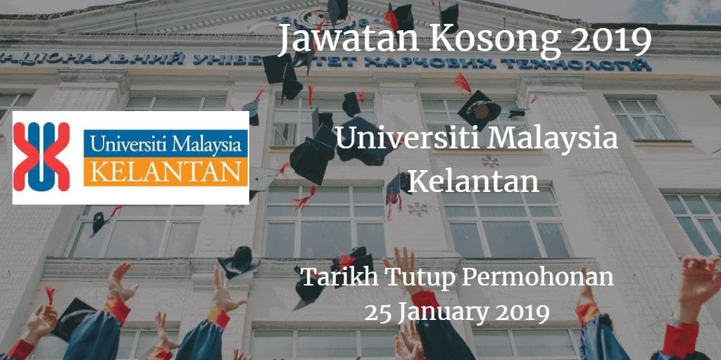 Jawatan Kosong UMK 25 January 2019