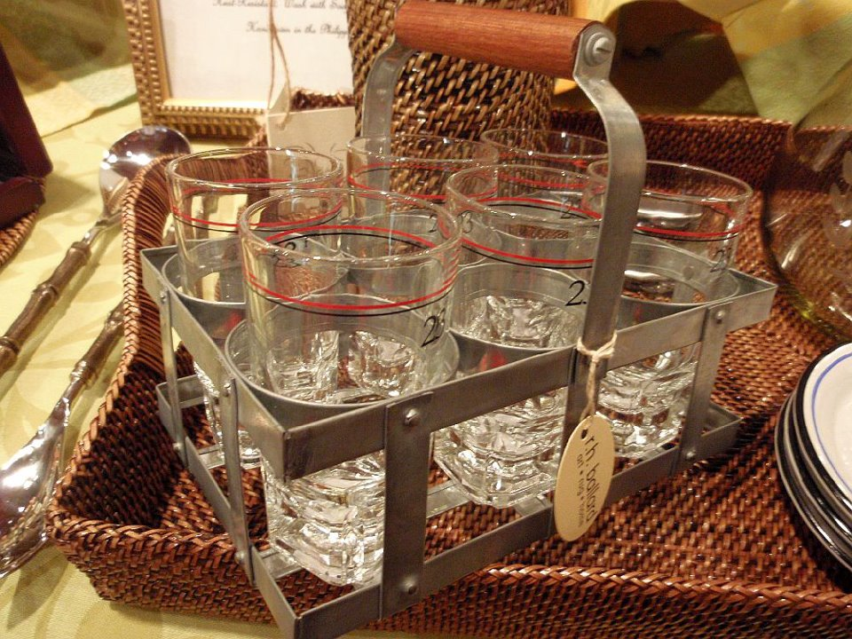 Vintage Flasche Caddy Ballard Designs