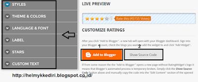 Cara Memasang Rating Bintang diBlog