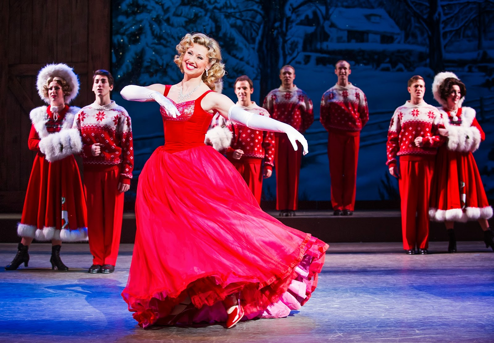 first look white christmas at the dominion theatre - Cast Of White Christmas