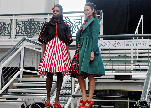 Hearts and Roses on the London Edge catwalk