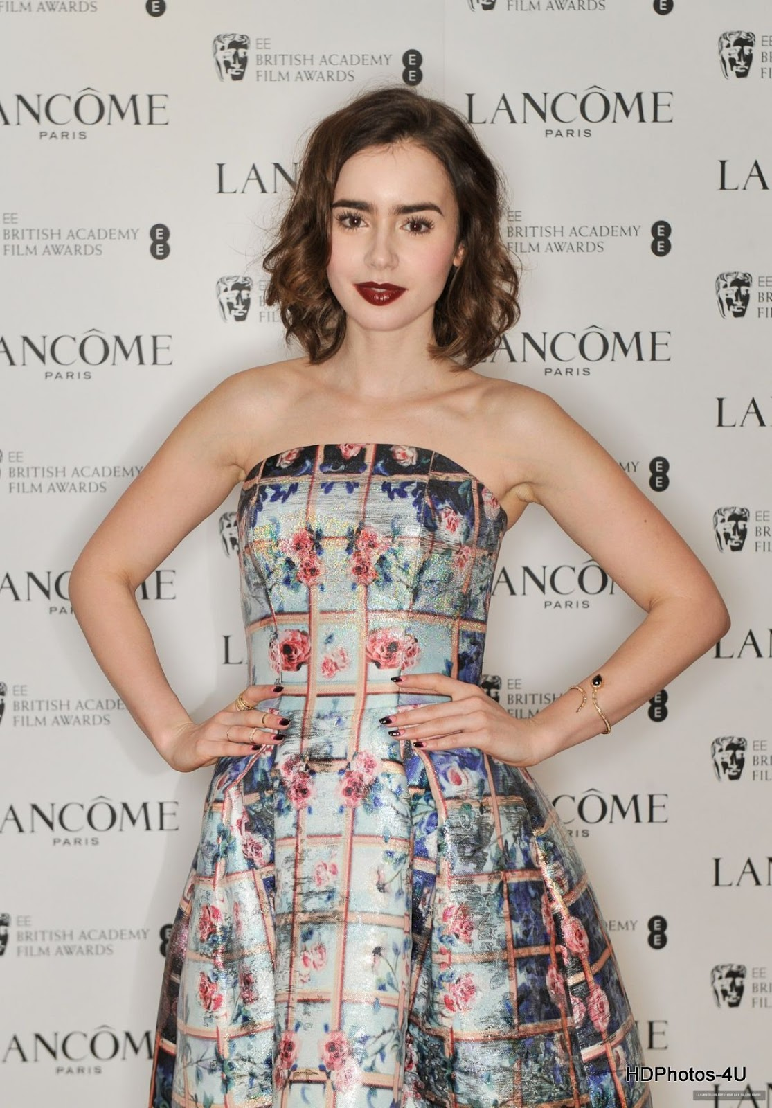 'Okja' actress HQ Photos/Wallpapers of Lily Collins at Lancome Pre-Bafta Party in London