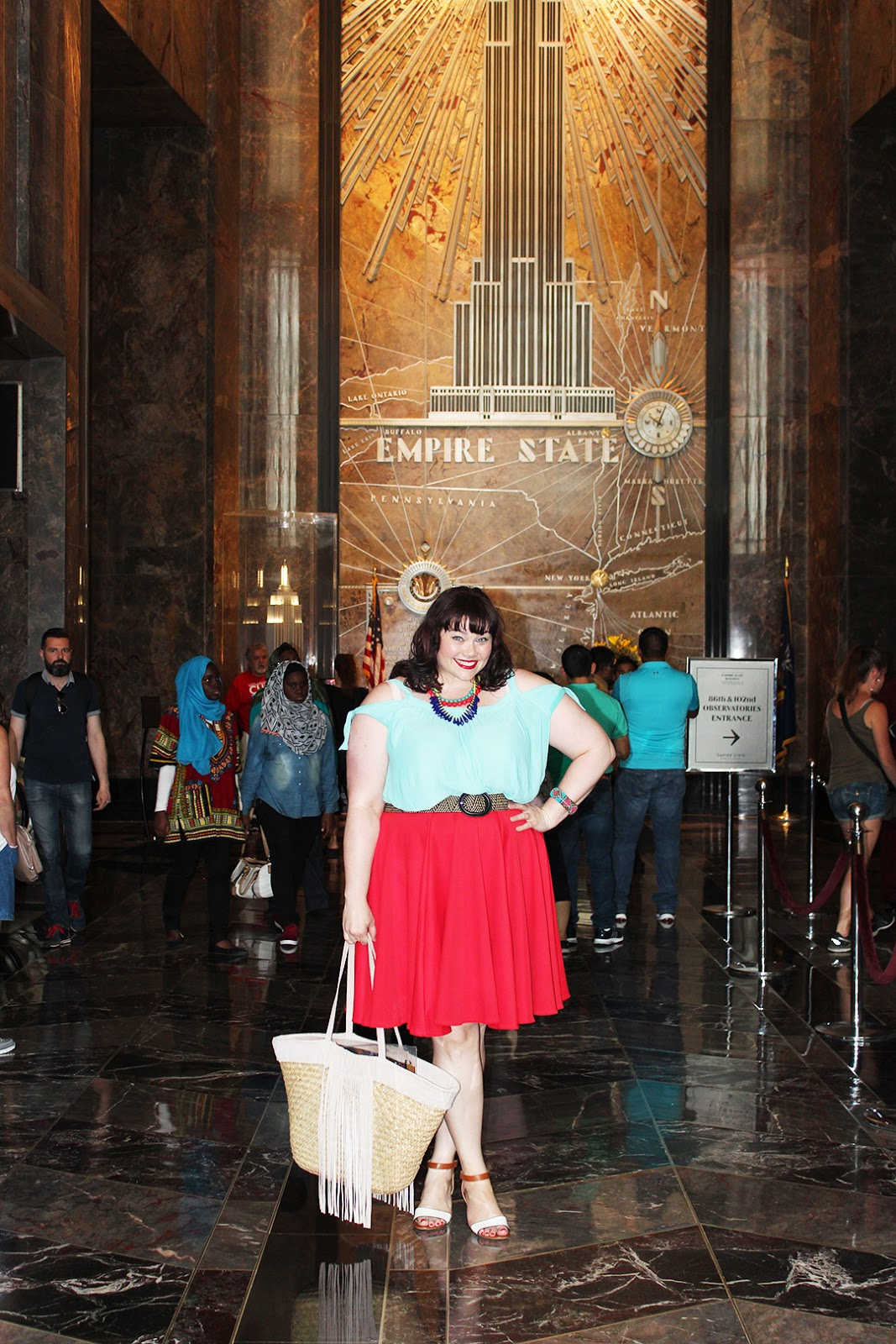Plus Size Blogger Amber from Style Plus Curves at Empire State Building