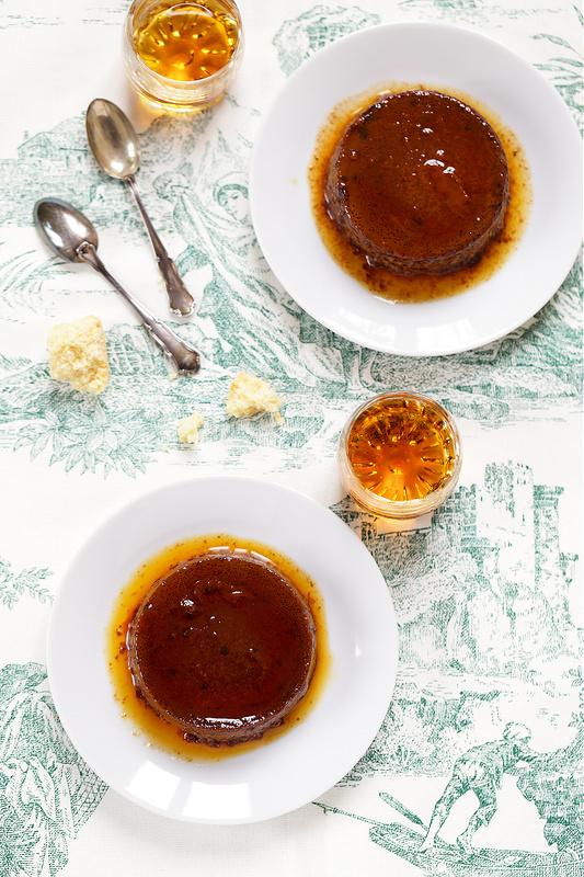 Recettes de Turin et du Piémont. Bonnet, flan chocolat et amaretti