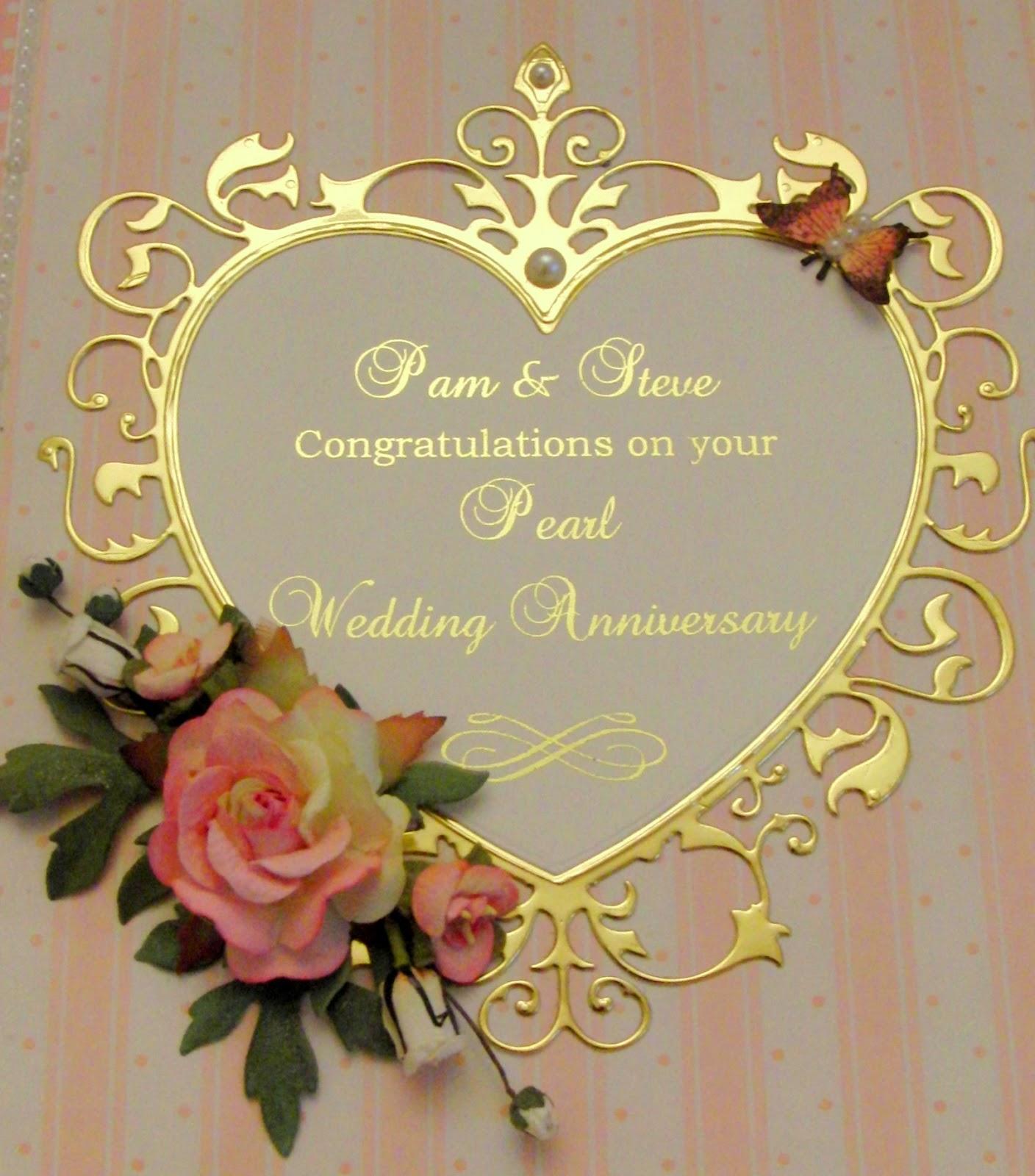 kimber kreations 30th wedding anniversary card