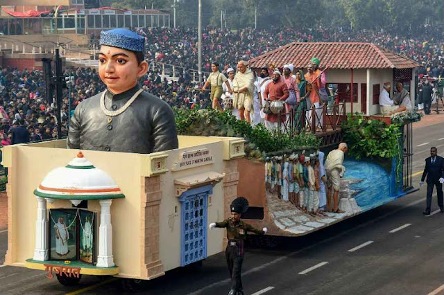 Full dress rehearsal for the 70th Republic Day Parade took place in New Delhi