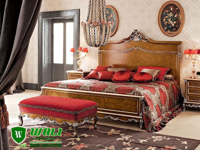 Tempat Tidur Kayu Jati Jepara Model Modern Elegan Murah