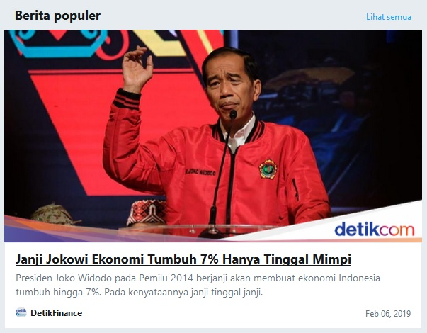 Berita Populer di Twitter Hari Ini: Janji Jokowi Ekonomi Tumbuh 7% Hanya Tinggal Mimpi