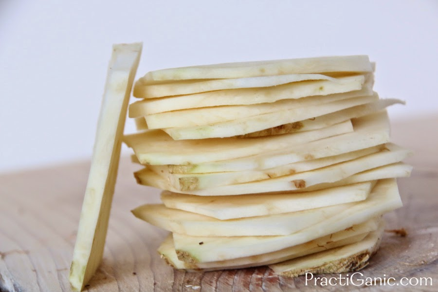 Sliced Celery Root