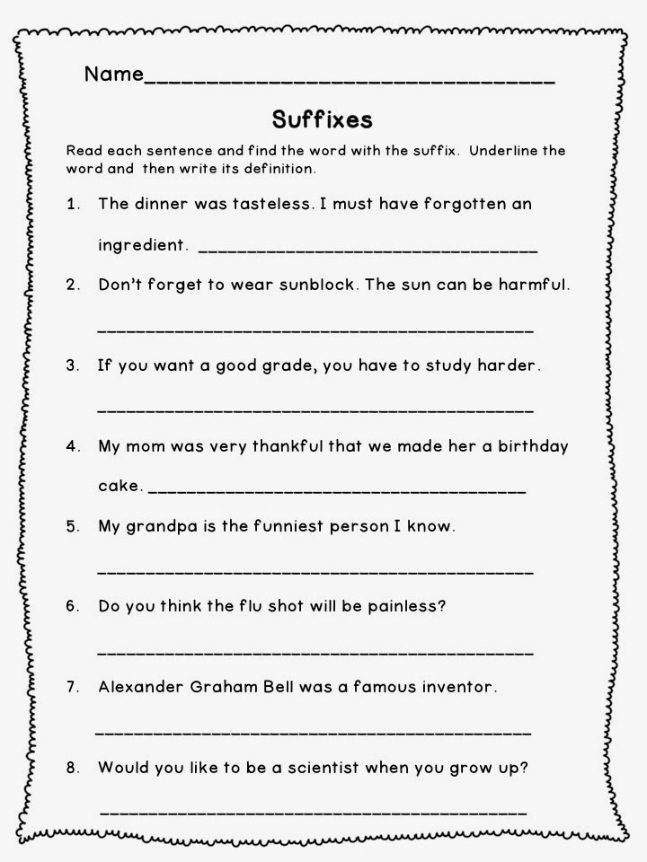 Printable Worksheets prefixes for kids worksheets : Prefix-and-suffix-worksheets & Several Free Printable Common ...