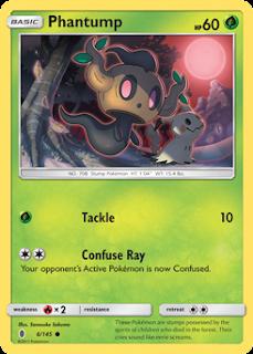 Phantump Guardians Rising Pokemon Card