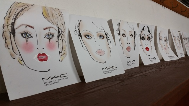 facechart del make up mac cosmetics nel backstage di Intimissimi On Ice 2016 all'Arena di Verona