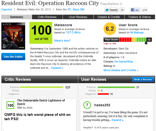 I'm happy being a number on Metacritic | VentureBeat