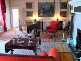 George III's harpsichord  in the Queen's Drawing Room at Kew Palace