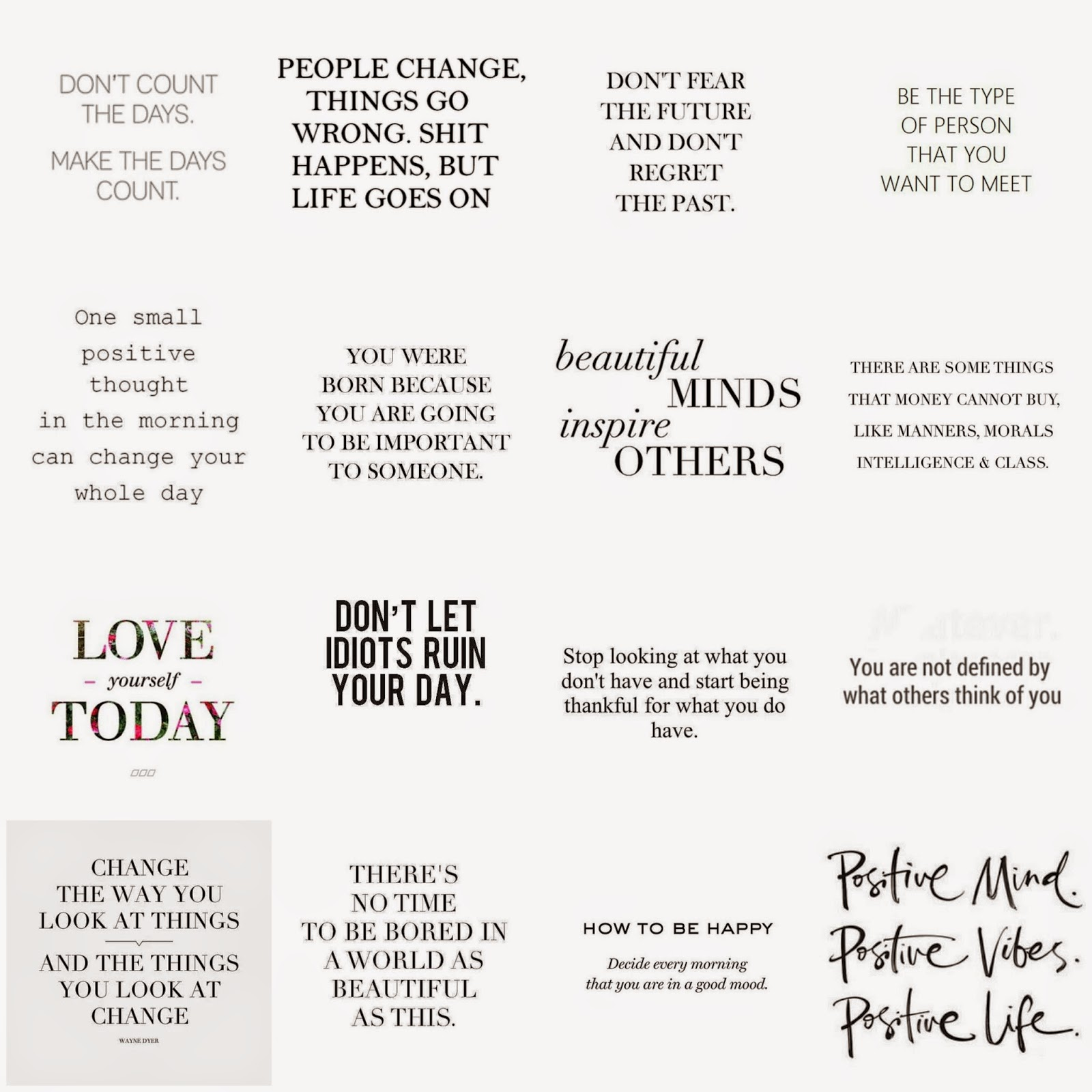 My Favorite Positive Quotes | Lifestyle