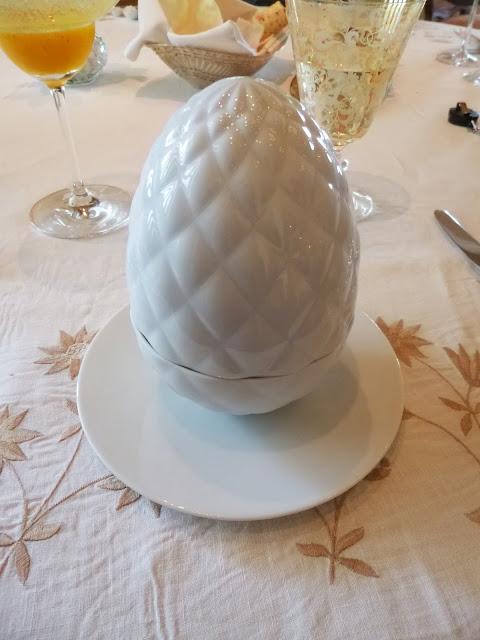 Lunch at Falaknuma Palace: egg-shaped dish
