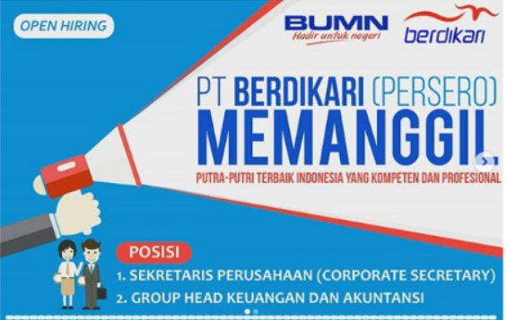 Lowongan Kerja BUMN PT Berdikari (Persero)