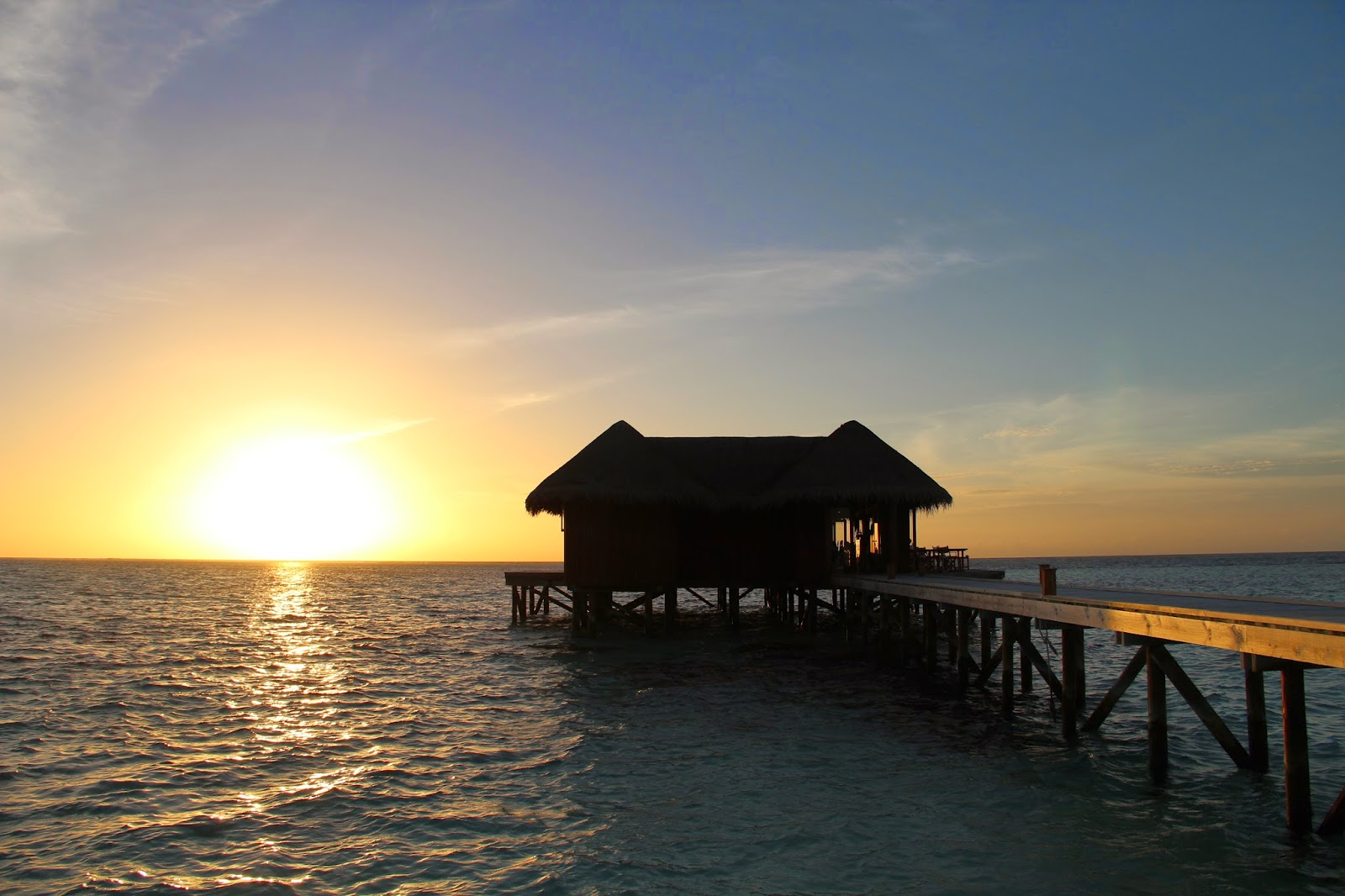 Sunset at Mirihi Maldives