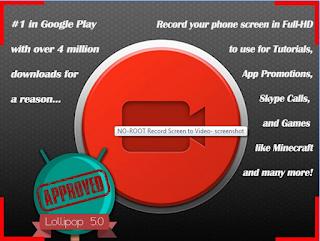Aplikasi Gratis Terbaik Perekam Layar (Screen Recorder ) Di Android