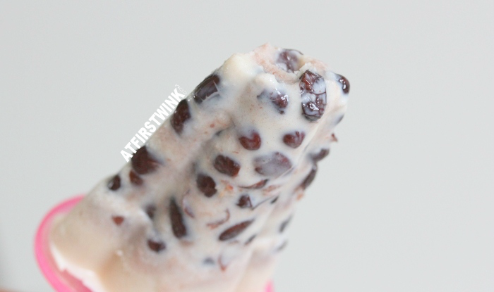 bitten home-made red bean popsicle