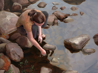 Glimmer at the Waters Edge by Rob Rey - robreyfineart.com