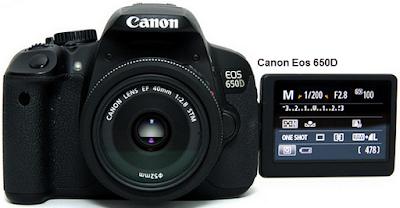 review Spesifikasi dan Harga Kamera Canon Eos 650D