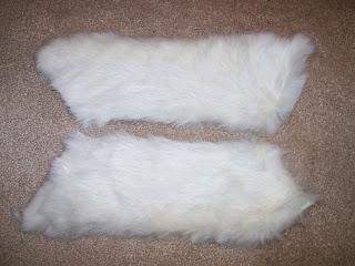 1850s style white fur cuffs