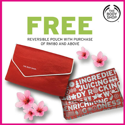 The Body Shop Malaysia Free Pouch Promo