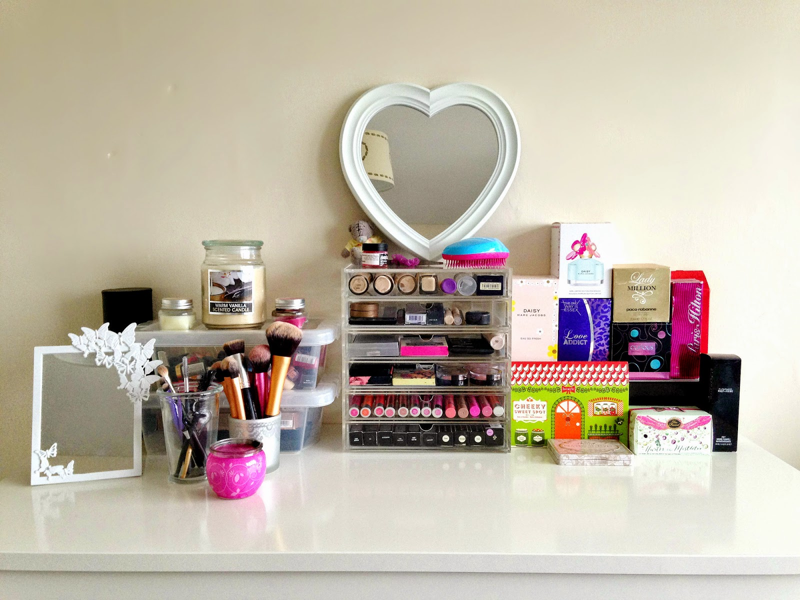 My Makeup Table and Storage Set Up
