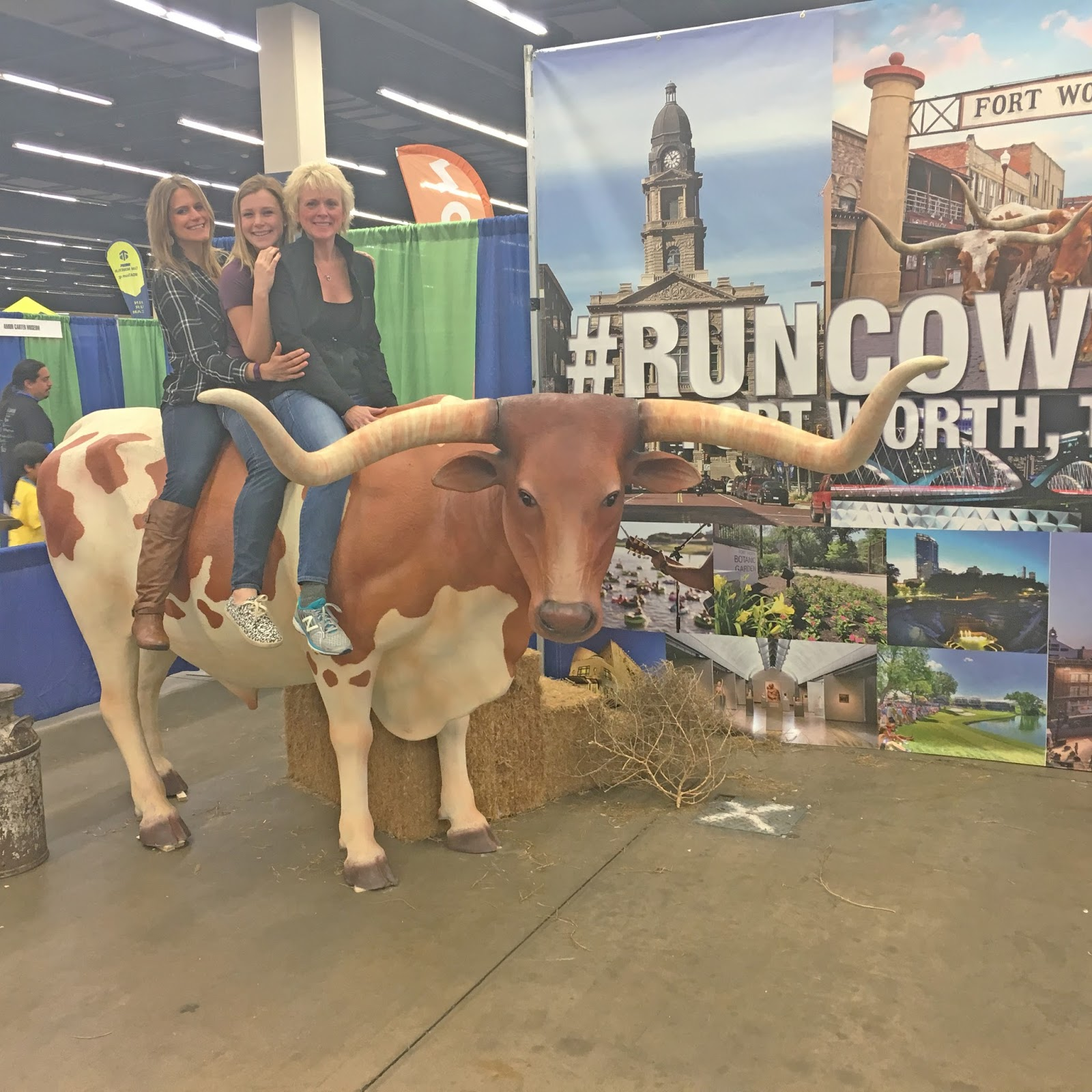 Cowtown marathon packet pickup in Fort Worth, Texas
