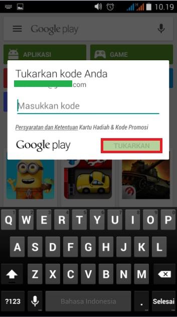 Cara Redeem Isi Saldo Google Play Dengan Gift Card Voucher