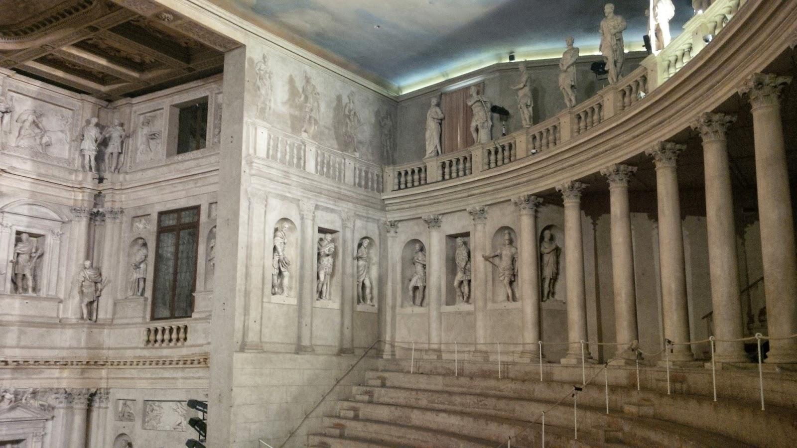 Inside Teatro Olimpico in Vicenza
