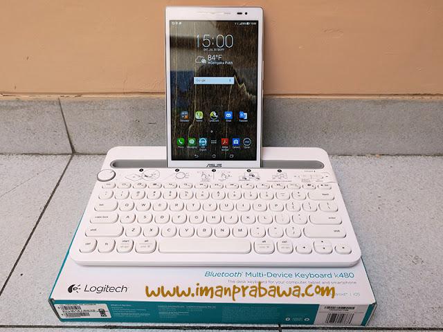 Keyboard Logitech K480 Dengan Tablet Asus